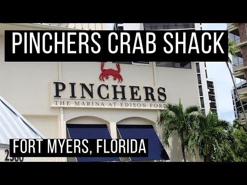 🦀 Pinchers Fort Myers Florida Restaurant Review | Florida Rain Storm | North Port Fires