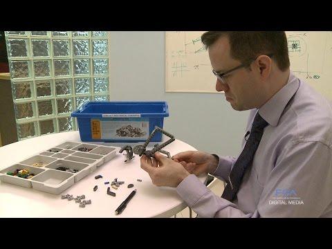 FCA Canada Design Engineer Works with LEGO Blocks