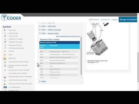 AAPC Coder - CPT Revenue Code Lookup Tool