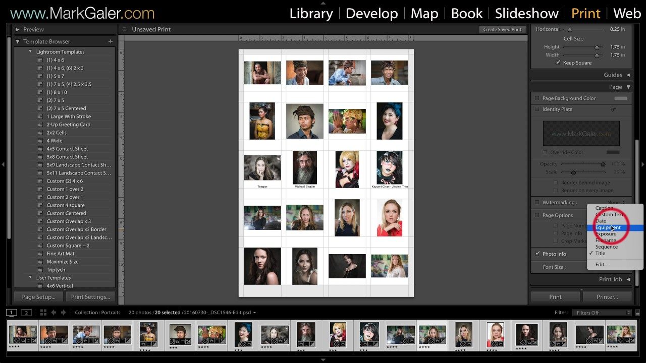 Lightroom Classic Print Templates And Save To Pdf