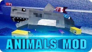 Minecraft Mods - MORE ANIMALS Mod! Sharks, Birds, Fish - Minecraft 1.7.10 / 1.7.2
