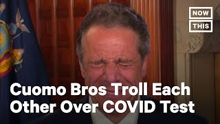 Cuomo Brothers Joke About Nasal COVID Test Swabs | NowThiis