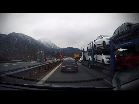 A gopro@4k time lapse drive form St.Pölten to Imst, March 2016, Austria/Germany