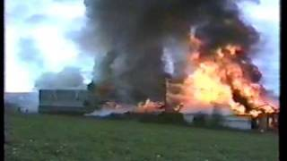 Potato House storage complex fire that destroyed 4 building in Limestone Maine