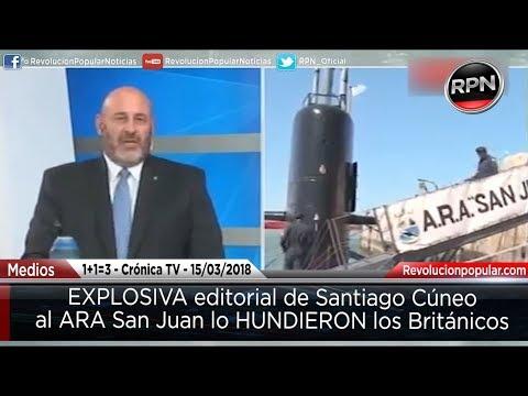 Lo confirma Cúneo, al ARA San Juan lo hundieron los BRITÁNICOS