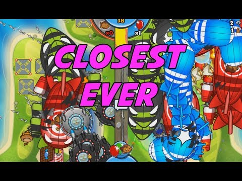 CLOSEST GAME OF ALL TIME - HUGE RUSHES - Bloons TD Battles