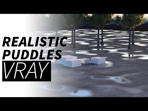 Cinema 4d & Vray tutorial - Realistic puddles / wet floor
