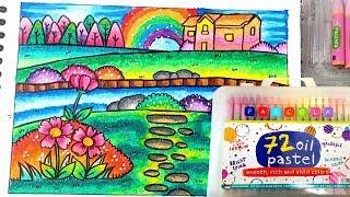 85+ Gambar Pemandangan Crayon Paling Keren