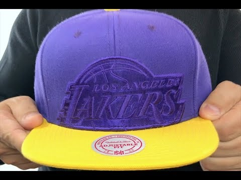 3a3b16453409f Lakers  CROPPED SATIN SNAPBACK  Purple-Gold Adjustable Hat by Mitchell and  Ness