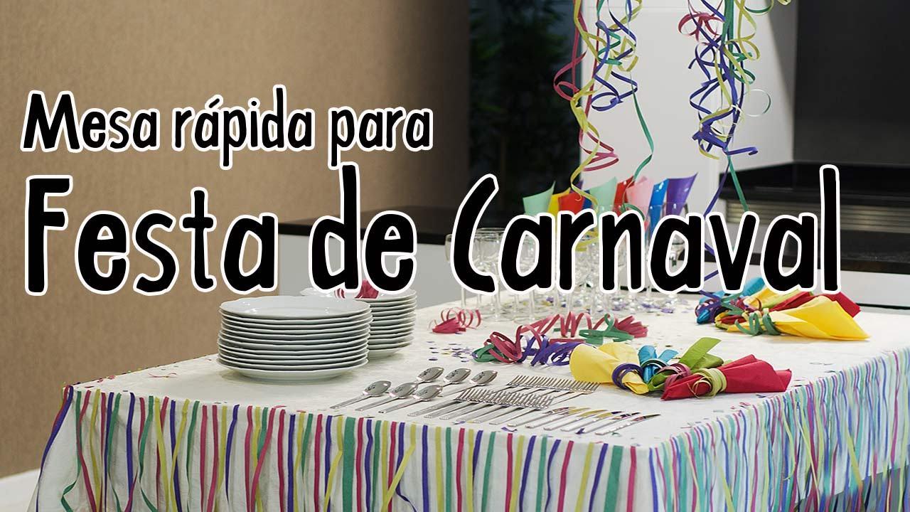 Decoração Para Festa De Carnaval Youtube