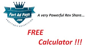 fort ad pays calculator fortadpays fap calculator profit share 2016 with drew burton