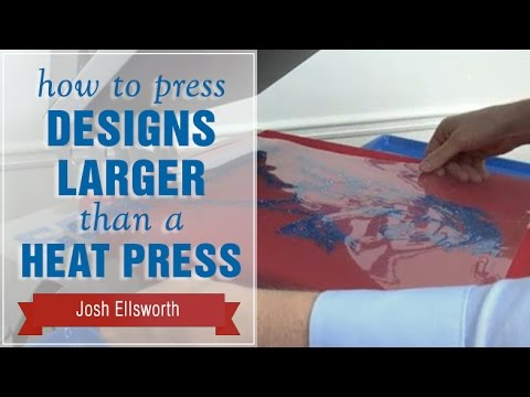 894b17a31 How to Press Designs Larger than a Heat Press - YouTube