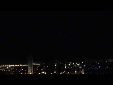 Armada of UFOs in Long Beach California