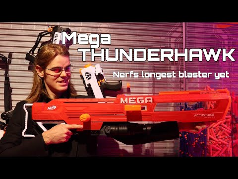 First Review: Nerf's Mega THUNDERHAWK (Longest Blaster Ever)