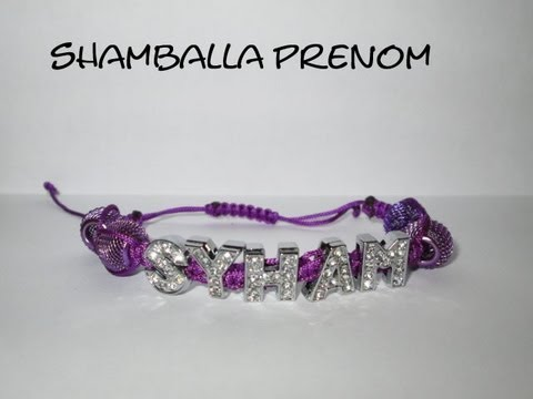 d i y tuto shamballa prenom bracelet shamballa prenom strass le top how make name shamballa. Black Bedroom Furniture Sets. Home Design Ideas