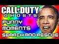 COD Ghosts Funny Moments #6 - Search and Rescue Fun, Dude Gets Shut Down by Friend