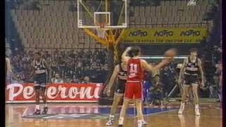 Olympiakos vs PAOK 59-49 Greek League 1993 SF