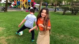 Futbol Challenge. DOĞUŞTAN SÜPER YETENEK 😂 Ecrin Su Çoban