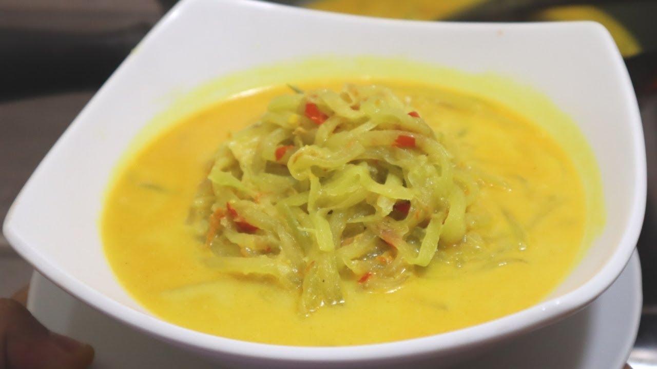 Resep Sayur Labu Siam Santan Kuning Youtube