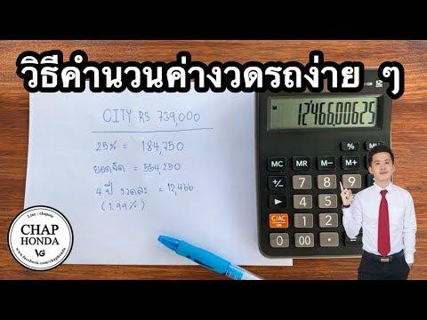 EP35 : วิธีคำนวนค่างวดรถง่าย ๆ  | By Chap honda
