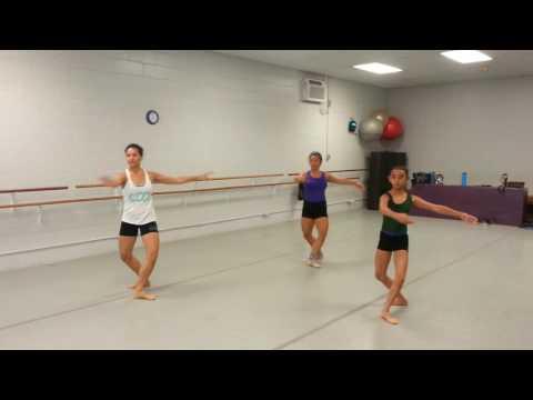 Ballet class combo to Hawaiian music