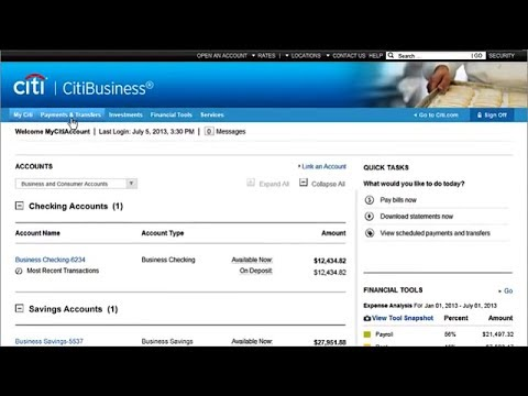 Citi: Getting Started - Using Citi Online for Small Business