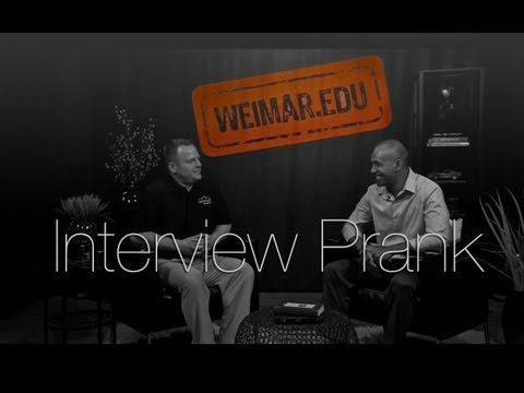 Weimar Academy Interview Prank (ft Siua)