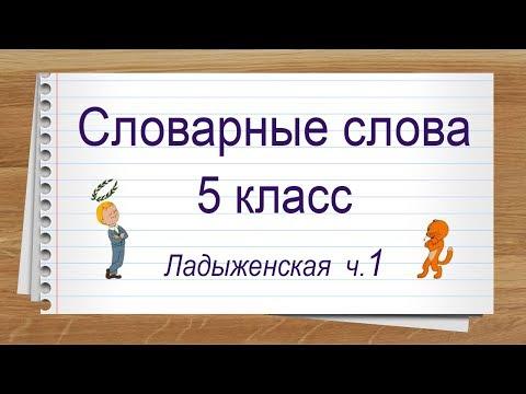 Словарные слова 5 класс учебник Ладыженская ч 1. Тренажер написания слов под диктовку.