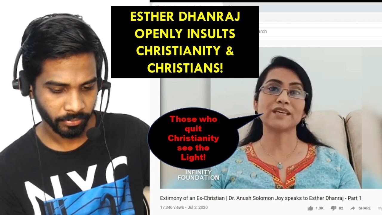 Esther Dhanraj Openly insults Christianity & Christians!