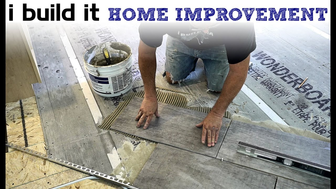 Laying Ceramic Floor Tile - YouTube