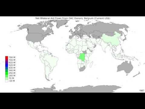 World - Net Bilateral Aid Flows From Dac Donors, Belgium - Time Lapse