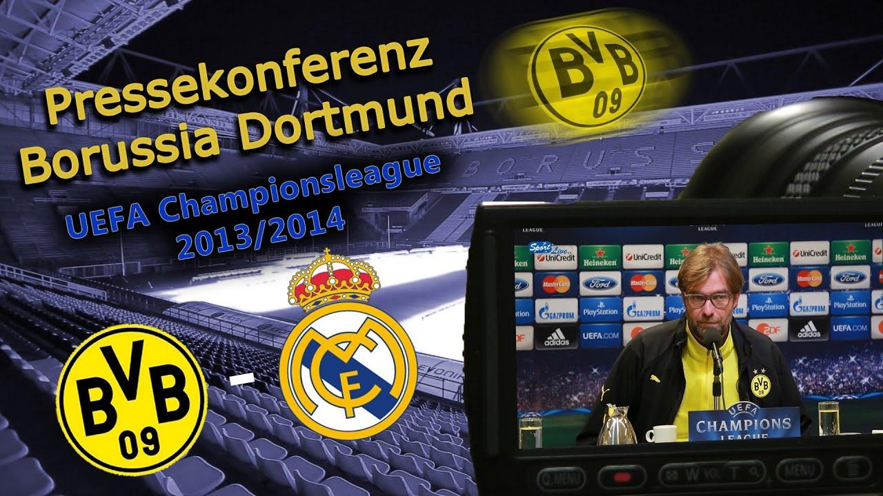 BVB Pressekonferenz vom 08. April 2014 nach dem UEFA Championsleague Viertelfinale Borussia Dortmund gegen Real Madrid (2:0)