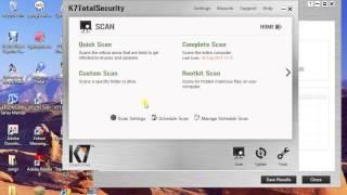 computer basics in telugu complete scan k7 antivirus
