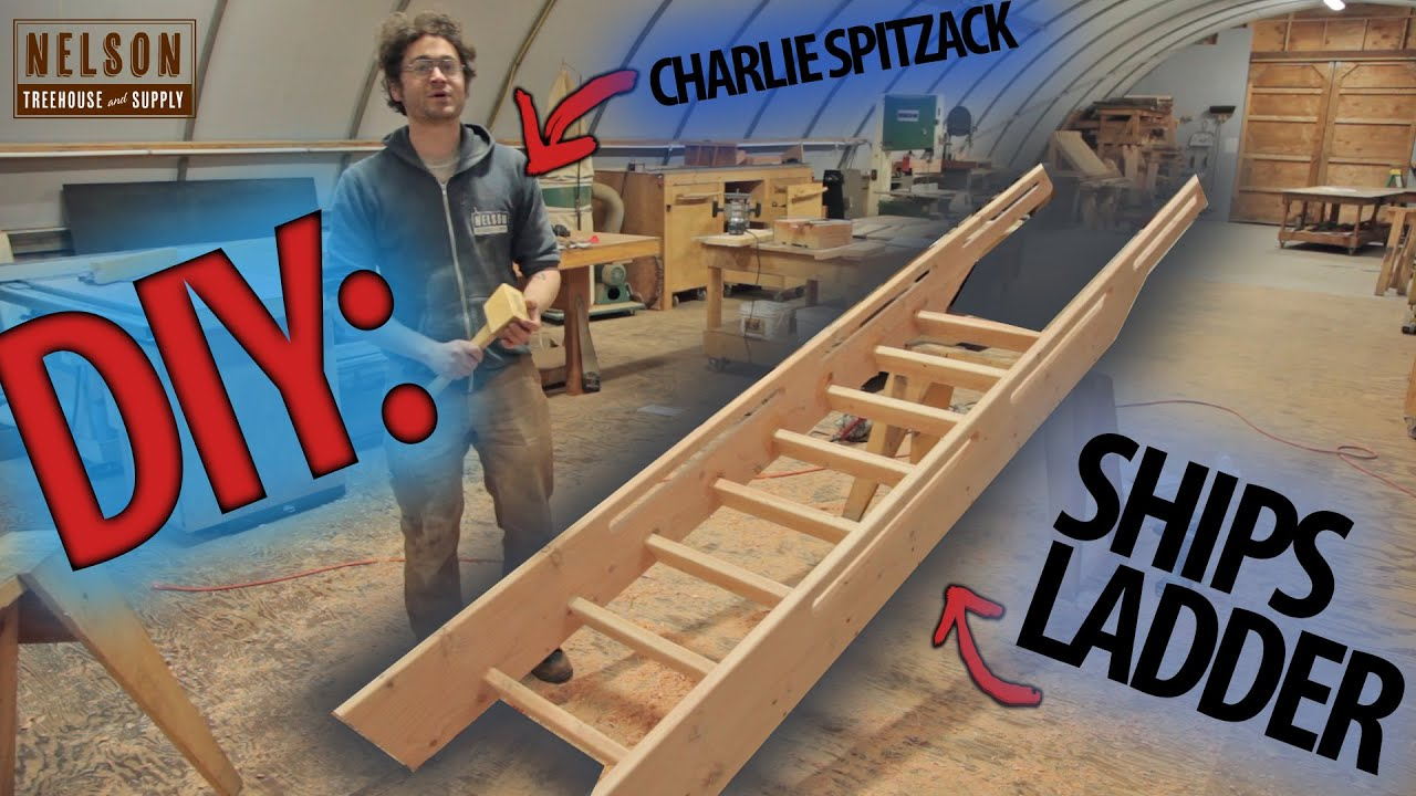 Diy How To Build A Ships Ladder Youtube