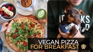 Vegan Pizza For Breakfast + Couple's Candle Making :) | VLOG