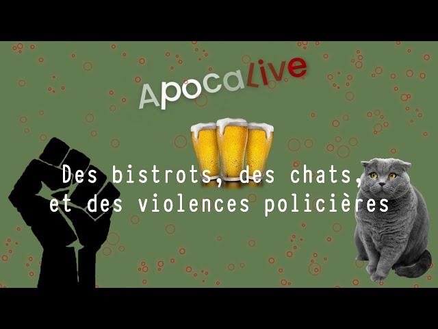 #Apocalive Saison 3 Épisode  4: Des bistrots, des chats et des violences policières