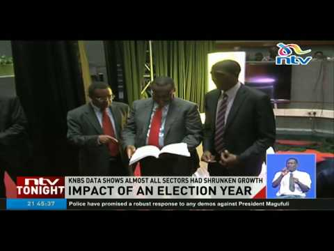 KNBS data shows almost all sectors had shrunken growth in the election year