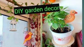 DIY garden decor / how to make garden decor from cardboard