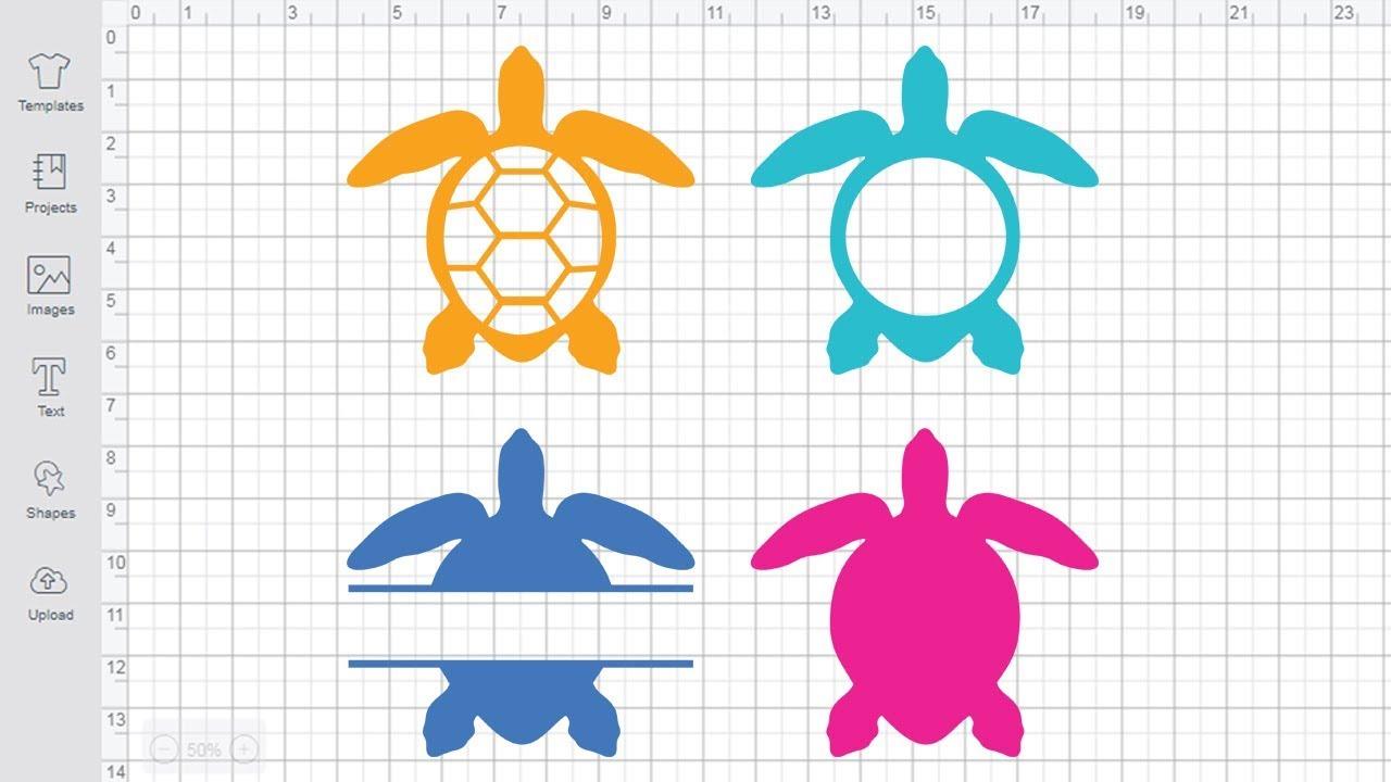 Download Sea Turtle Monogram SVG free Cricut Silhouette cuting file ...
