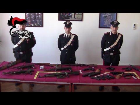 Gorizia, armi da guerra nascoste nell'auto: il sequestro dell'arsenale