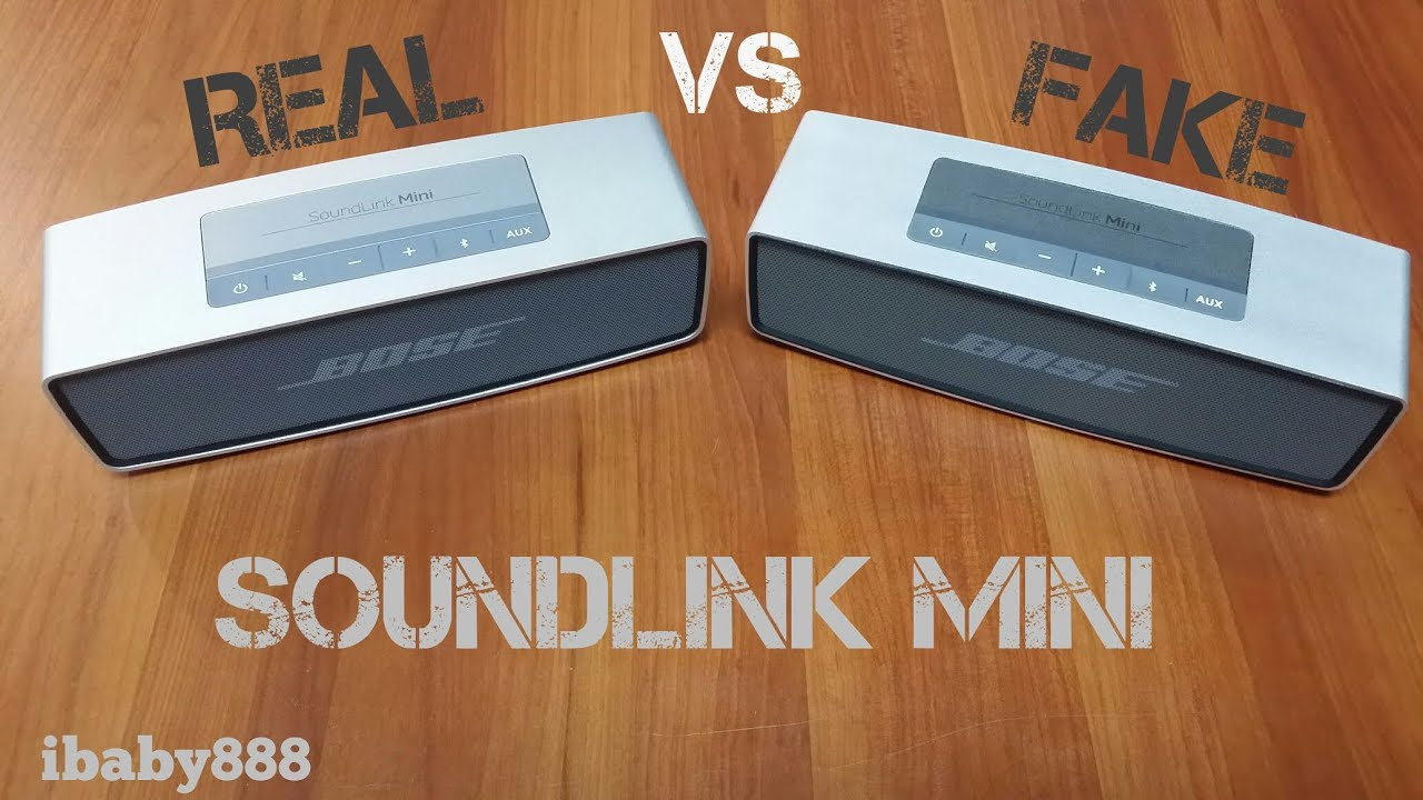 bose soundlink mini speaker original vs replica youtube. Black Bedroom Furniture Sets. Home Design Ideas