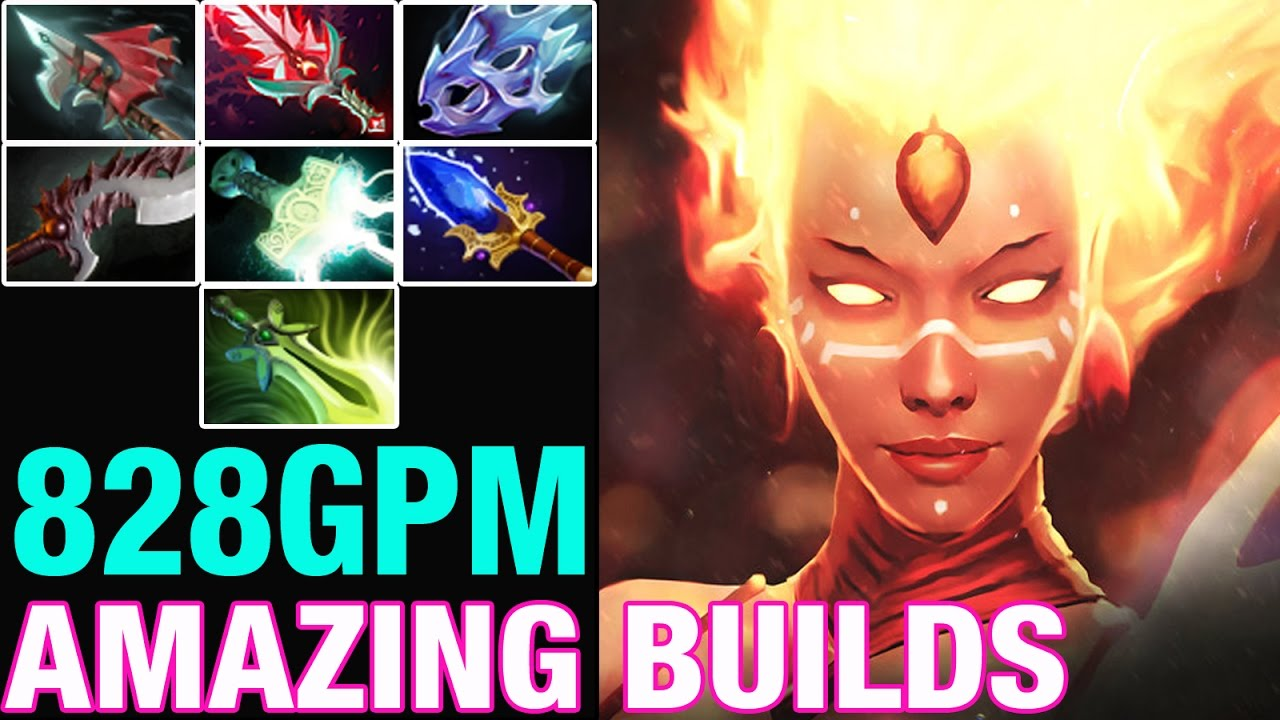 Op Build Lina With Mjollnir Moon Shard Butterfly Amazing Builds