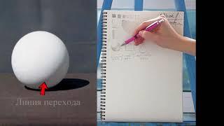 Основы рисунка | Свет и тень, штрихи, рисуем простые фигуры карандашом