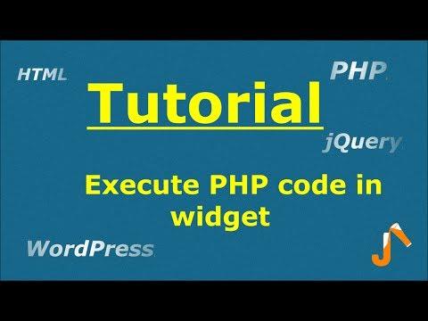 Execute PHP code in widget