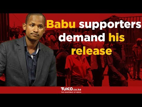 Babu Owino supporters demand for his immediate release