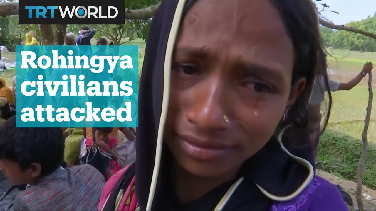 Rohingya Muslims were attacked as they tried to flee violence in Myanmar