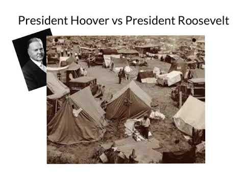 President Hoover vs President Roosevelt