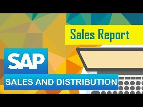 SAP SD | Sales Report | Creating Report | Report Generation