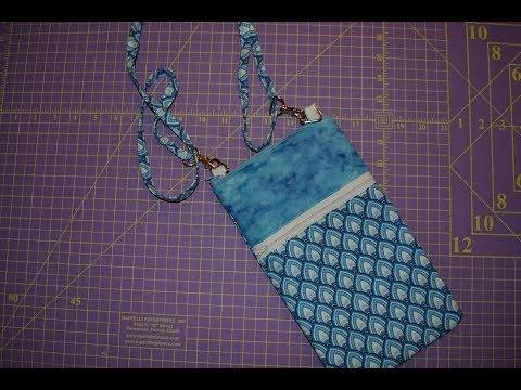 Crossbody/Cell Phone/Epi Pen/Medical supply bag TUTORIAL thumbnail