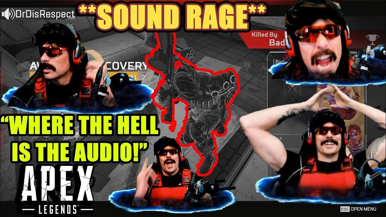 DrDisrespect RAGES AT FOOTSTEP SOUND In Apex Legends! (No Footsteps Audio!)